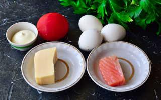 Салат флагман с красной рыбой рецепт