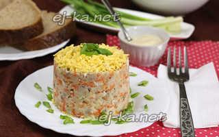Салат из сайры консервированной с яйцом и картофелем