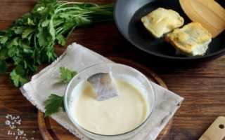 Кляр для рыбы рецепт простой со сметаной