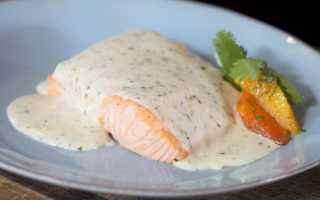Белый соус к красной рыбе