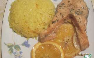 Семга в апельсиновом соусе