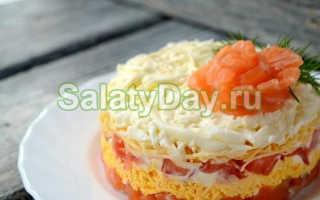 Салат с семгой и сливочным маслом