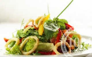 Салат с кальмарами и тунцом