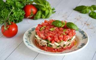 Салат с помидорами и тунцом
