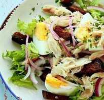 Салат из скумбрии с зеленым горошком