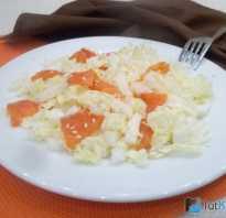 Салат с красной рыбой и пекинской капустой
