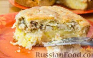 Пирог с картошкой и сайрой