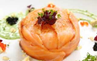 Салат с рисом и семгой
