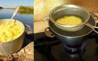 Как варить пшено для рыбалки