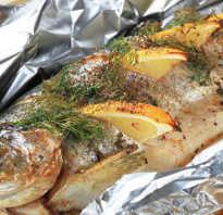 Рыба фаршированная в фольге