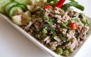 Салат из сайры с кукурузой