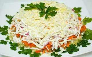 Мимоза салат с сайрой
