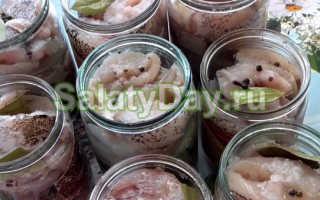 Салат из сельди с овощами на зиму