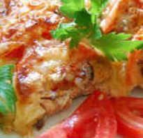 Горбуша в духовке под майонезом и сыром