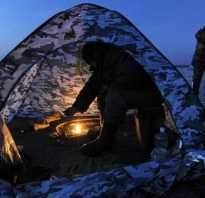 Зимняя ночная рыбалка