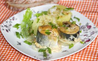 Скумбрия с горчицей и соевым соусом