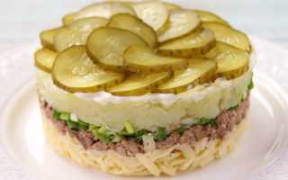Салат с печенью трески без яиц