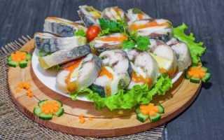Фаршированная скумбрия с желатином пошаговый рецепт