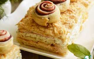 Закусочный торт с семгой