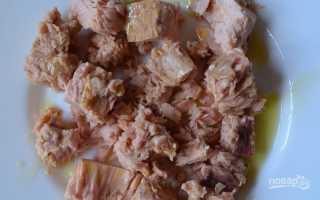 Салат с тунцом в масле