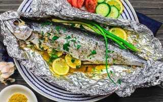 Рыба в духовке в фольге с лимоном