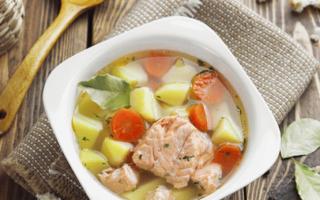 Суп из горбуши замороженной