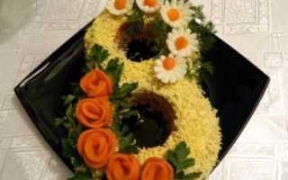 Салат со скумбрией мимоза