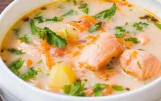Суп из форели со сливками по фински