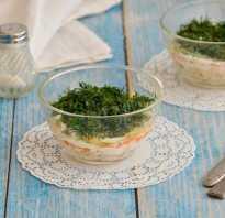 Салат из вареного минтая