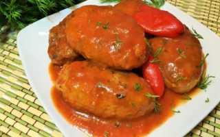 Котлеты рыбные в томатном соусе