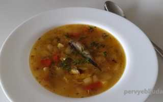 Суп со шпротами