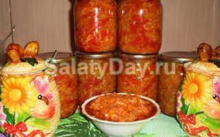 Салат из скумбрии на зиму с помидорами на зиму