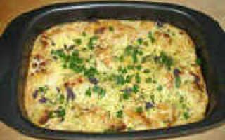 Рыба в духовке с грибами и сыром