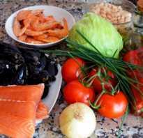 Салаты из морепродуктов и рыбы