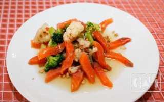 Салат с семгой горячего копчения