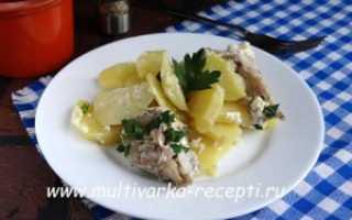 Рыба в мультиварке с картошкой
