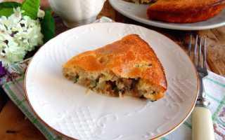 Пирог рыбный на кефире