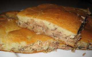 Пирог с карасями